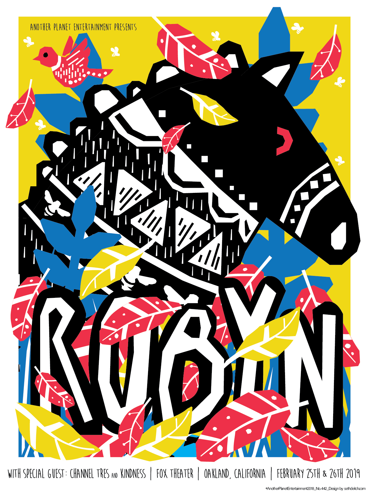 Robyn -- 3 Color Screen Print