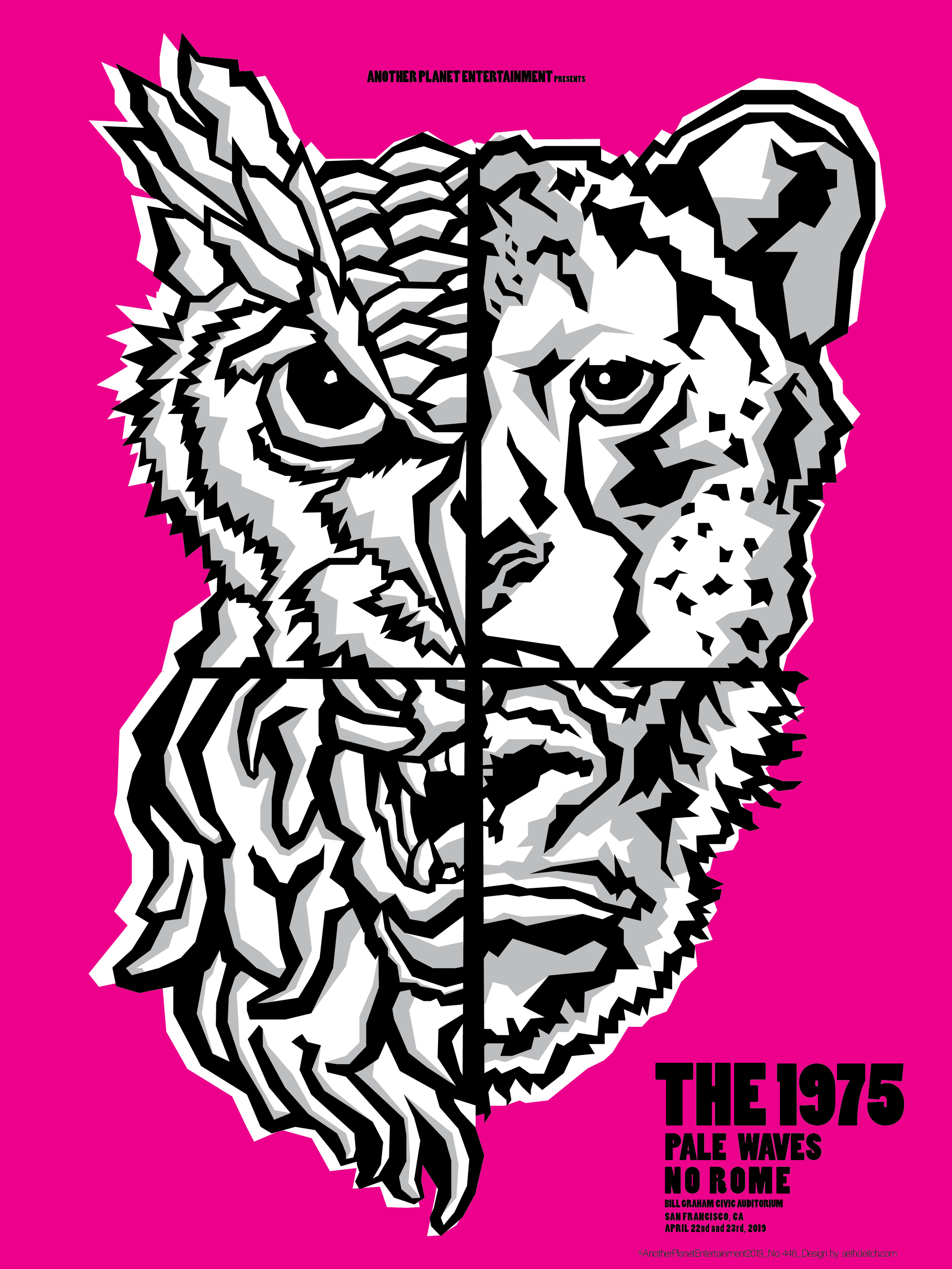 The 1975 -- 3 Color Screen Print