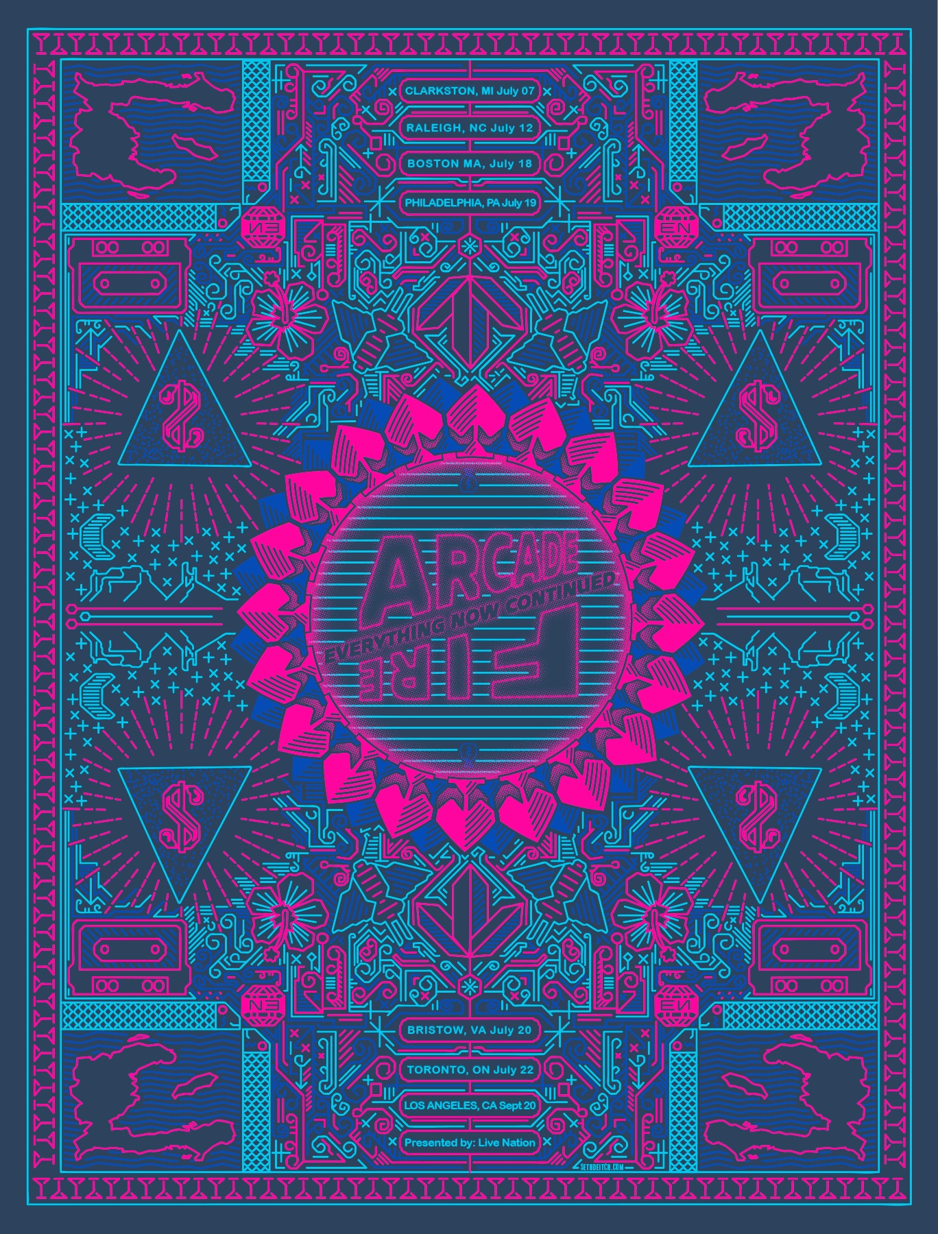 Arcade Fire Screen Print