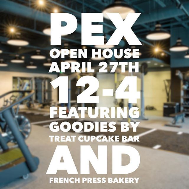 Doors open at noon for our first open house this Saturday! Come meet our esteemed trainers, tour the facility, and enjoy yummy bites provided by our friends at @treatcupcakebar and @frenchpressma. We are so honored to be a part of this community and look forward to celebrating with all of you!  And don't forget to ask about our introductory special package rates... #pexhealthandfitness #personaltraining #needham #needhamcenter #smallbusinessowner #besttrainers