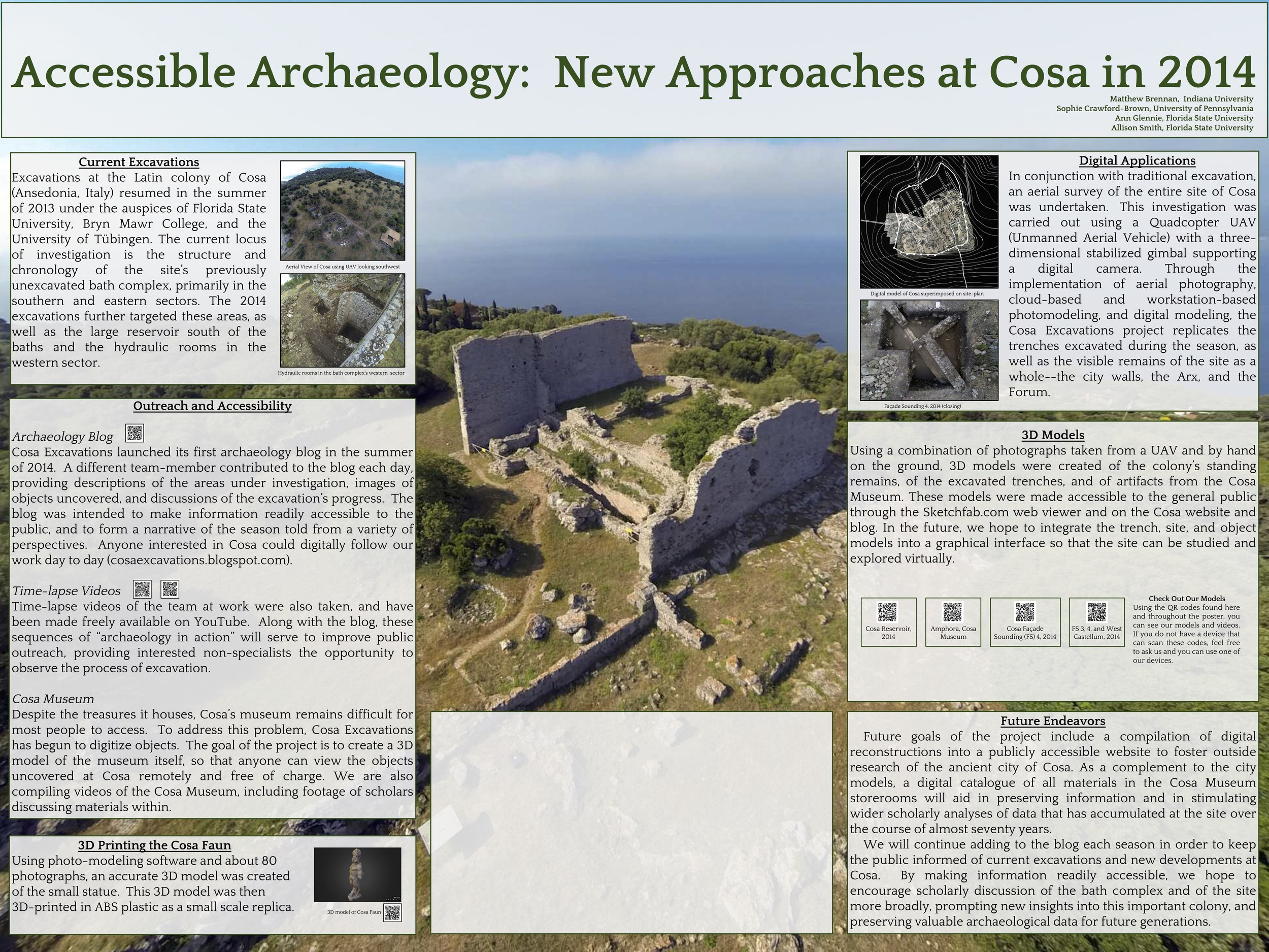 """Poster Presented at the 2015 AIA and SCS Joint Annual Meeting - """"Accessible Archaeology: New Approaches at Cosa in 2014"""""""