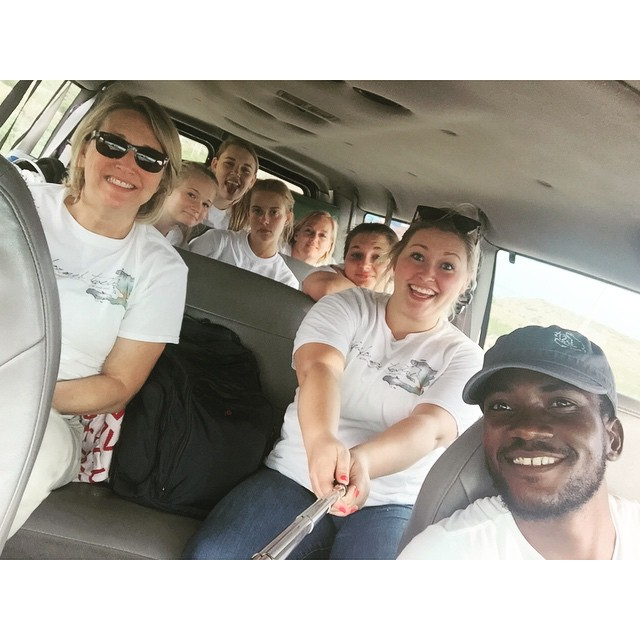 T12 is on their first impact trip! Follow us on our blog at transformedtwelve.org ! This photo is from when we ran out of gas :) selfie sticks can be fung for passing the time in a hot car! #truthnugget #haiti #t12 #transformedtwelve