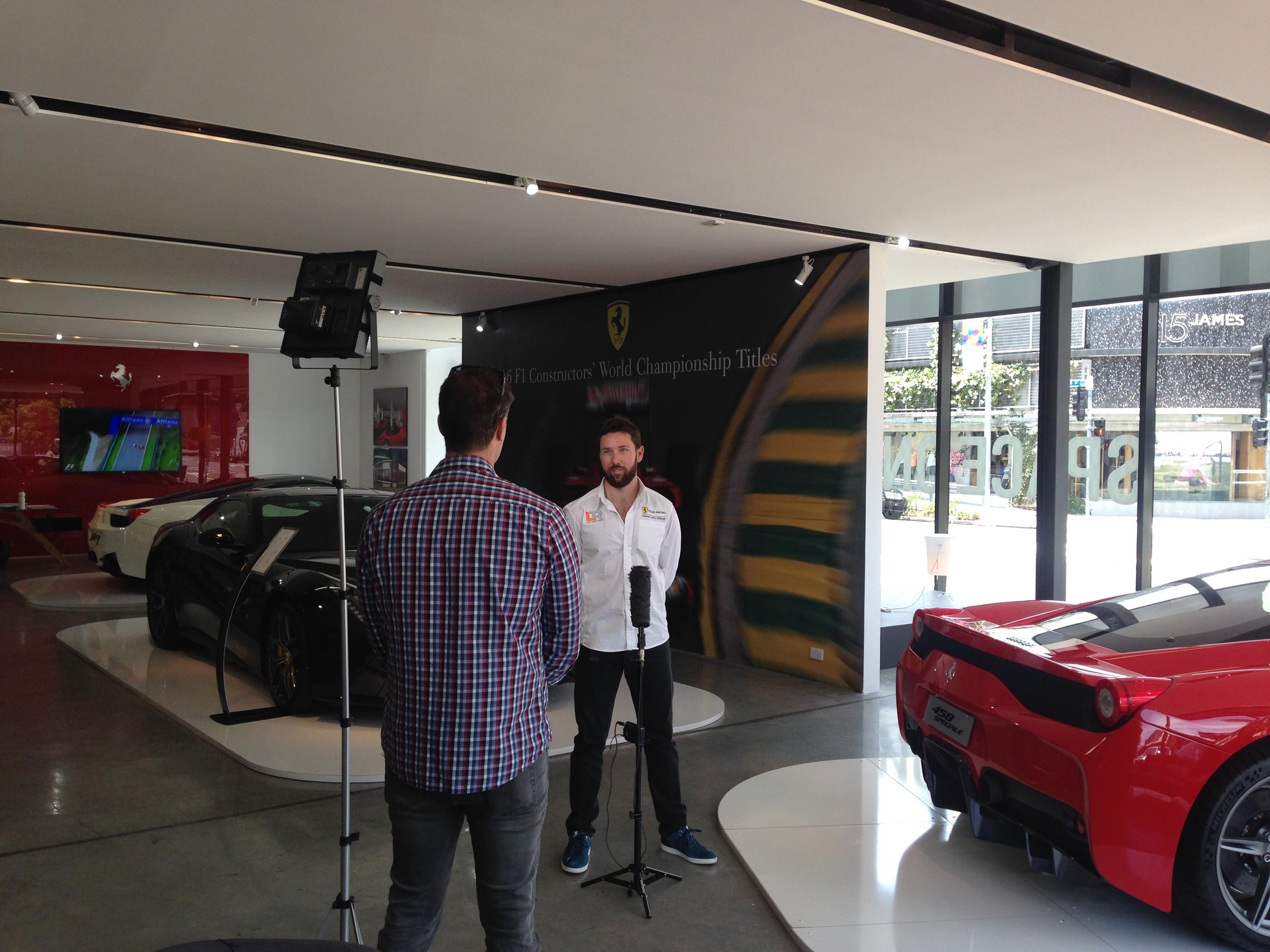 Seven News Brisbane interviews Liam Talbot in Brisbane