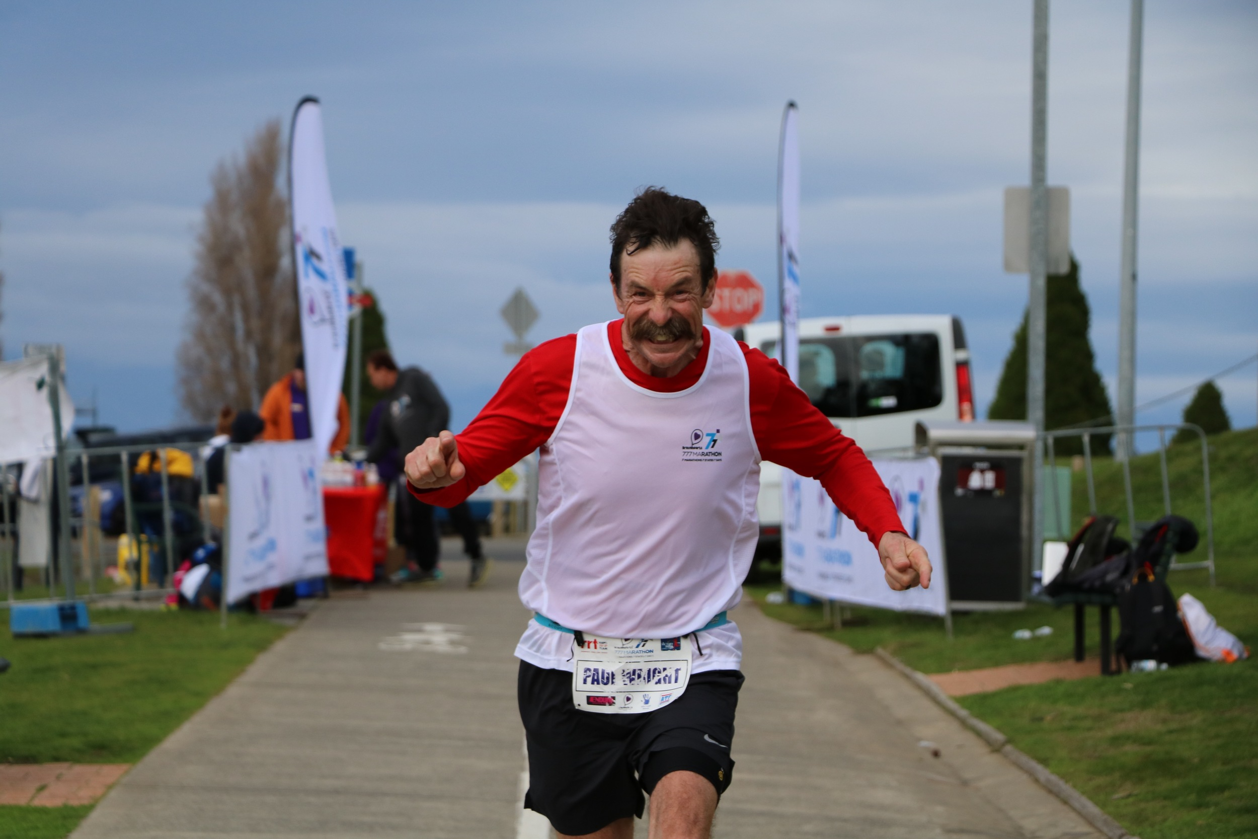 Tasmania's Paul Wright fired up when the Bravehearts 777 landed in chilly Hobart on Day 4.