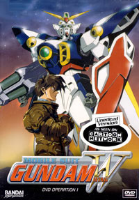 Cover art for the first  Gundam Wing  North American DVD.  Credit to Sunrise/BANDAI .