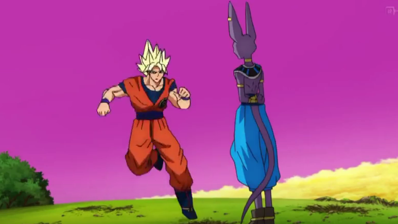 "One example of the supposed ""bad animation"" in  Dragon Ball Super . Credit to Toei."