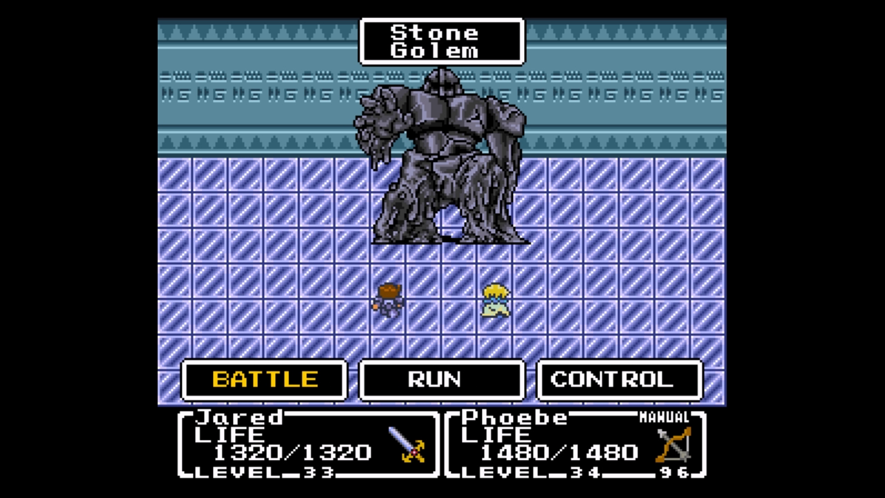 Sprite degradation is an excellent way to show damage in  Mystic Quest .