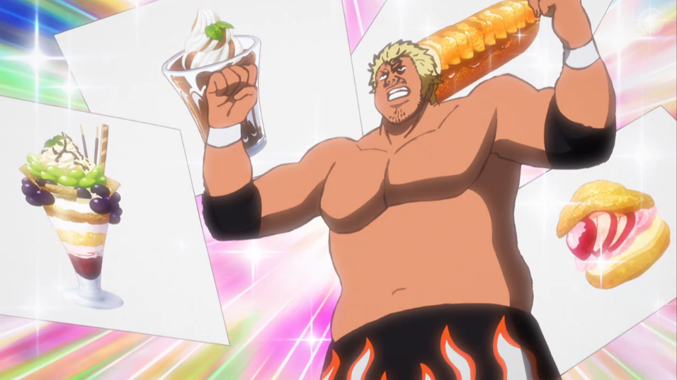 Togi Makabe really loves sweets.  No, he really does .