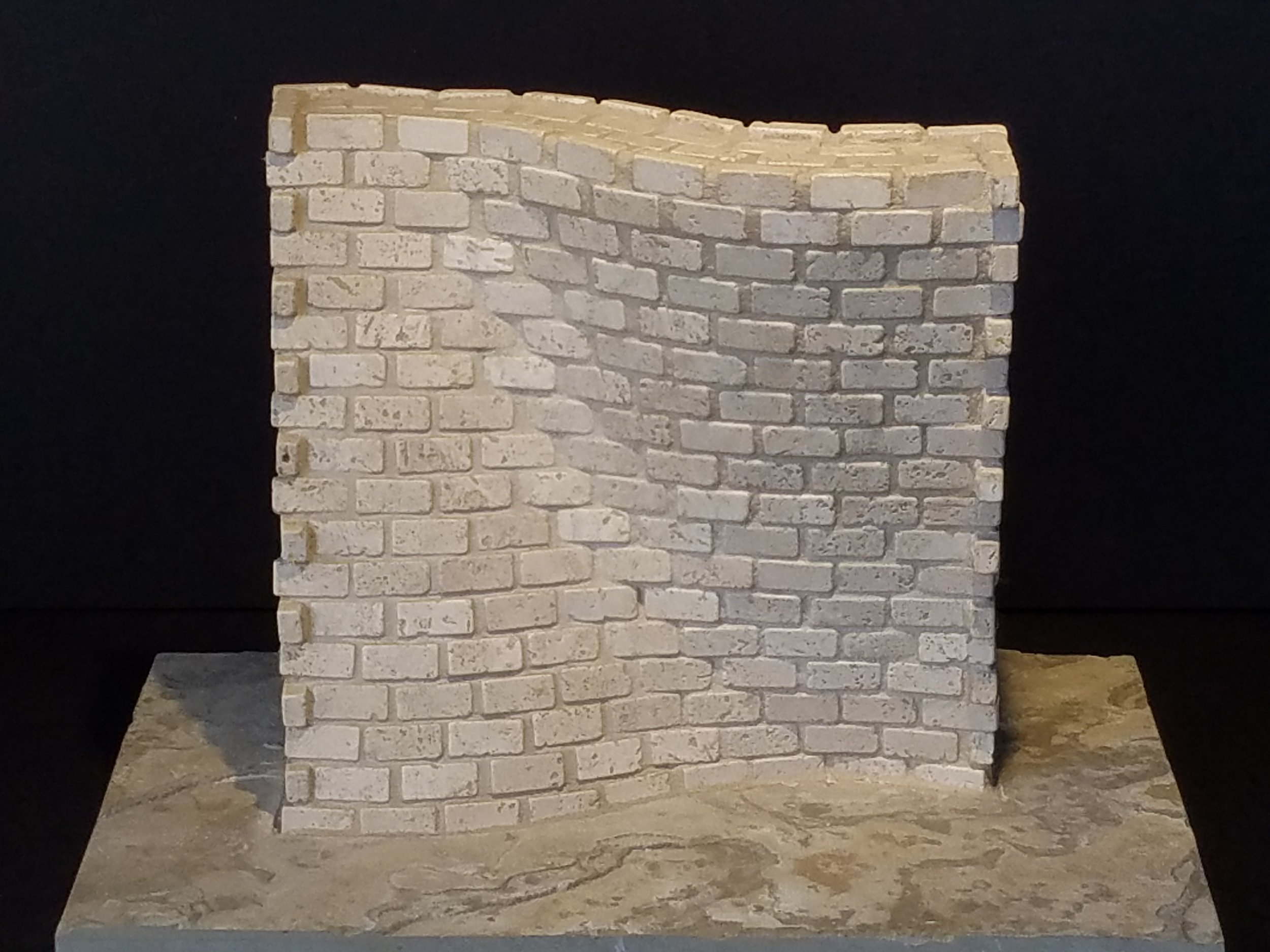 "Medium: Travertine  Dimensions: 18"" x 12"" x 14"""