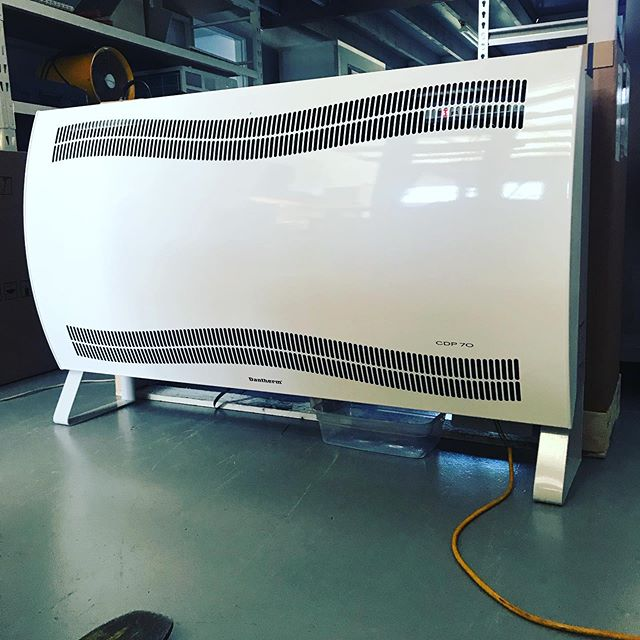 Testing in our workshop a new Dantherm CDP70 dehumidifier before sending out to our customer. It will be used on a swimming pool room