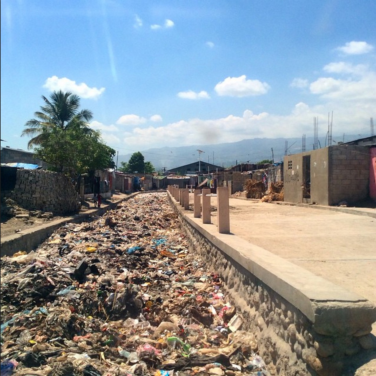 Cite Soleil lies at the lowest point of Port-au-Prince