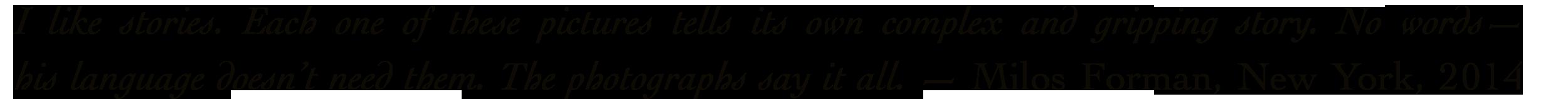 Milos Forman Quote