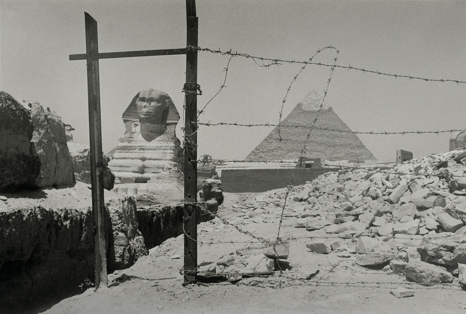 Barbed Wire Heart,Sphinx,Cairo, Egypt