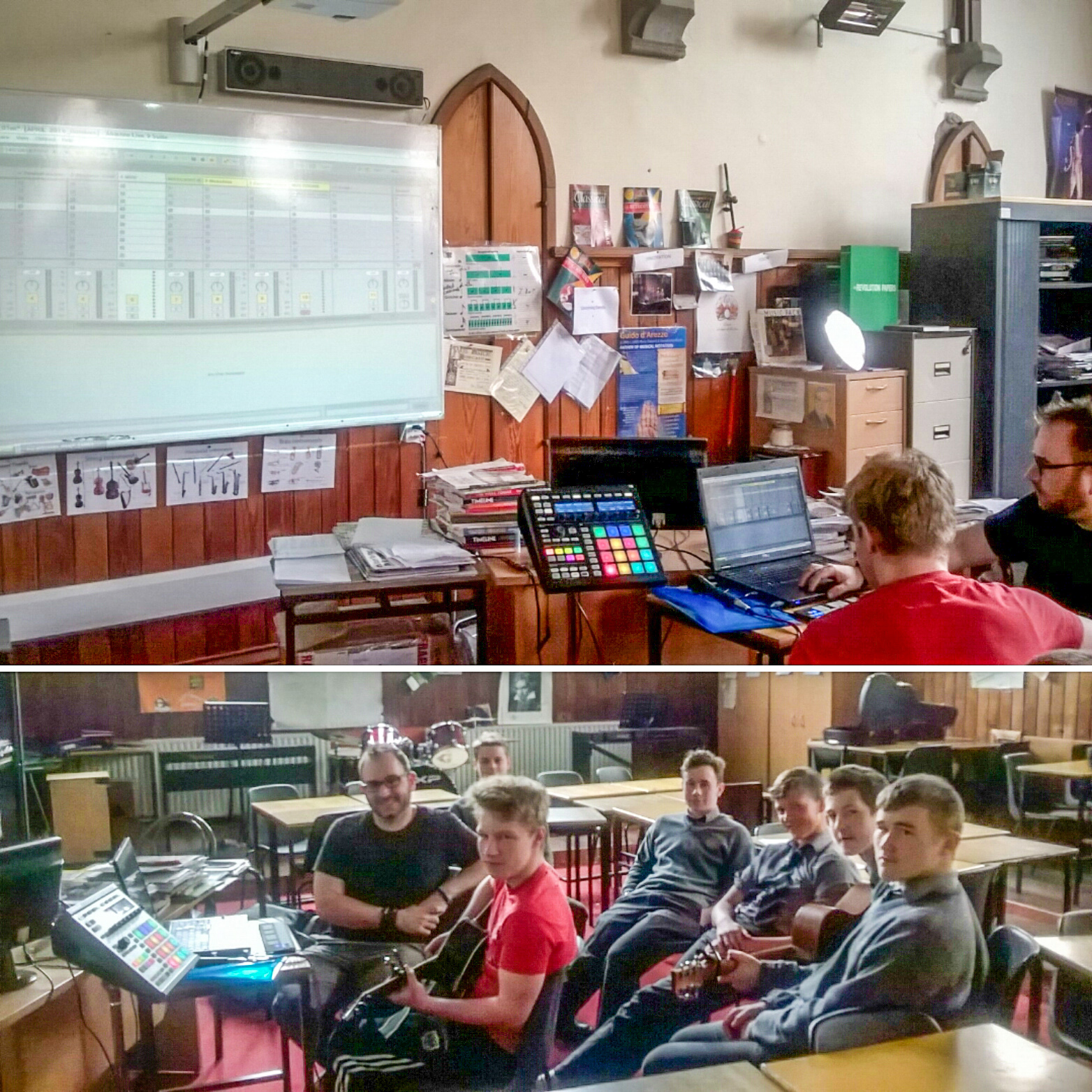 A music technology workshop in St. Francis College, Rochestown, Co.Cork.