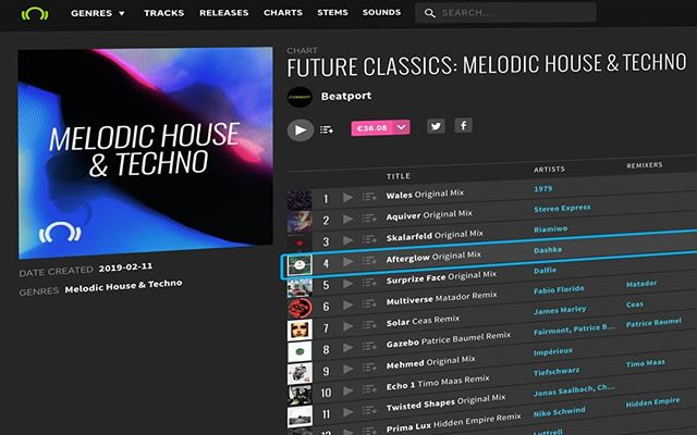 Afterglow' looking pretty in @beatport 's 'Future Classics:Melodic House & Techno' chart alongside Matador, Patrice Baumel, Claptone, Tiefschwarz, Jonas Saalbach and more... 🙌 . . . #dj #producer #record #Recording #musician #insta #instagood #instagram #instadaily #studio #housemusic #producerlife #Nightclub #ibiza #House #electronicmusic #clubbing #beatport #mixing #techno #music #moog #synth