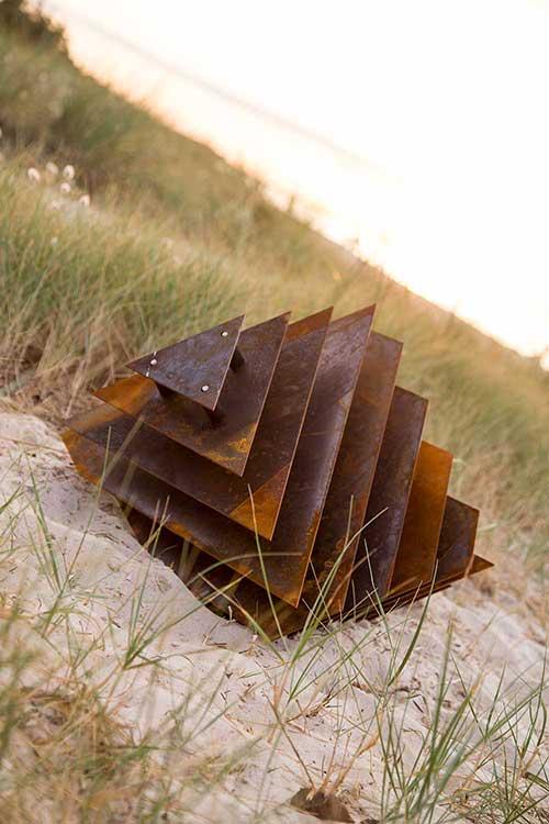 Sunken Geometry - Weathered Steel