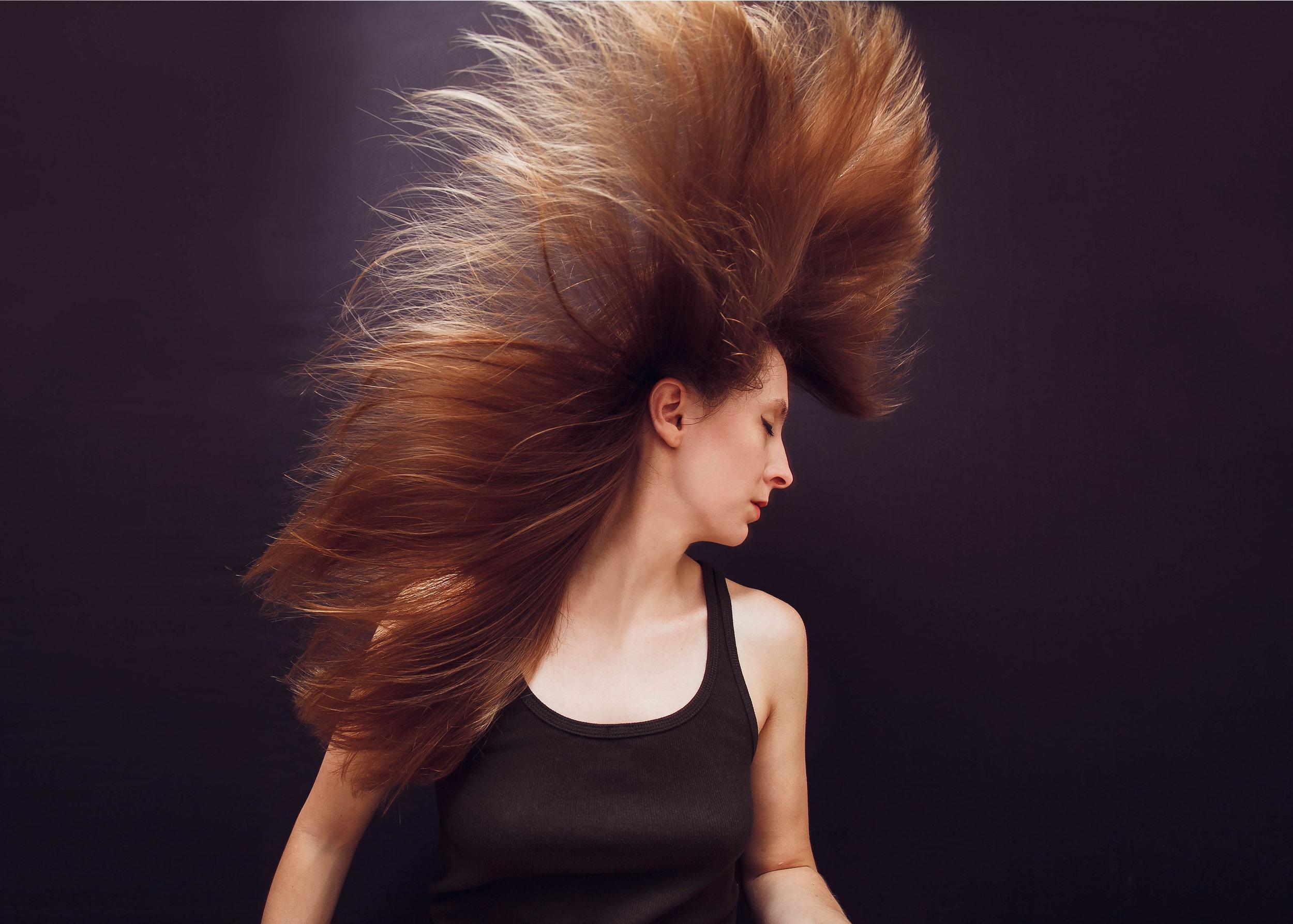 Golden Hair Self Portrait