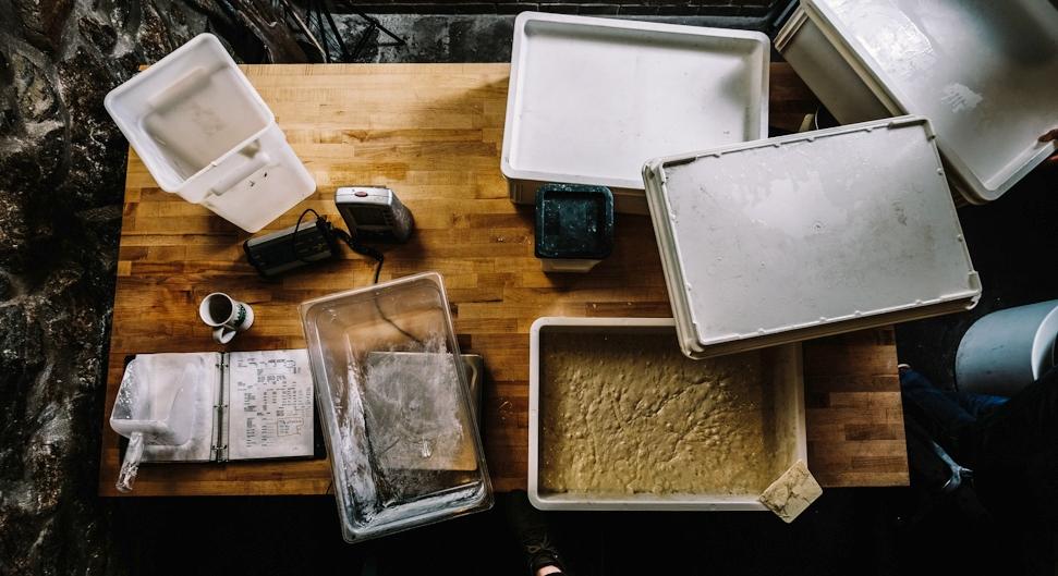 A simple dough of flour, water, malt and salt. -