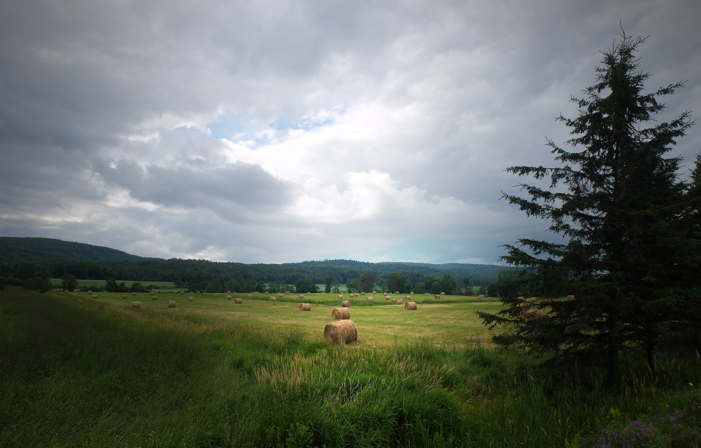Before the rain  (Hay Wheel) Quebec Canada 2015