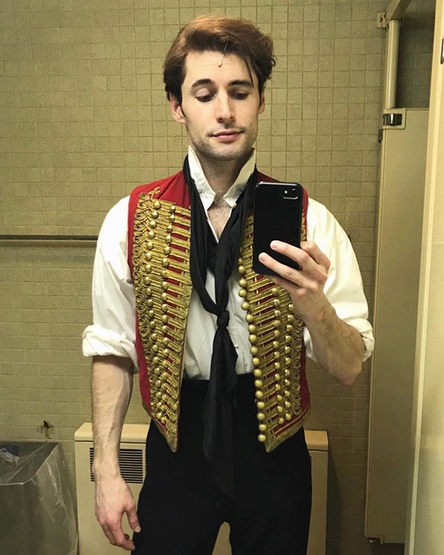 Had a blast making my Enjolras debut this week in @lesmizus! Love this company so much. Also the bathroom had better lighting than my dressing room #barricadeboys #lesmizus #beltordie