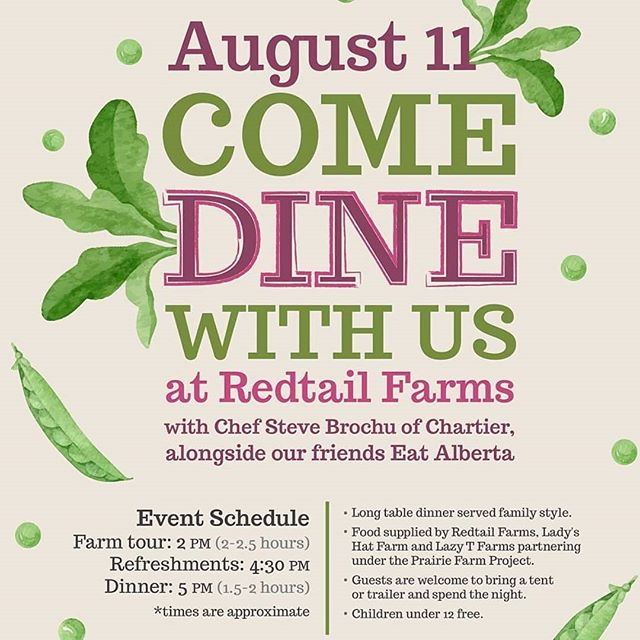 SAVE THE DATE!  Join @Chef_Brochew @redtail_farms and discover how delicious #supportinglocal can be.  To secure your seat at the table, email team@eatalberta.ca https://t.co/LSDLzzdPUW