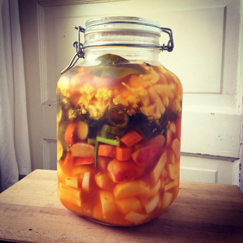 turmeric refridgerator pickles
