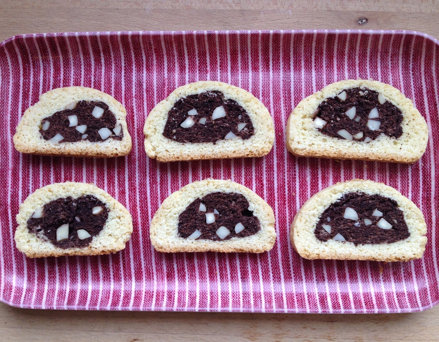 chocolate almond slices