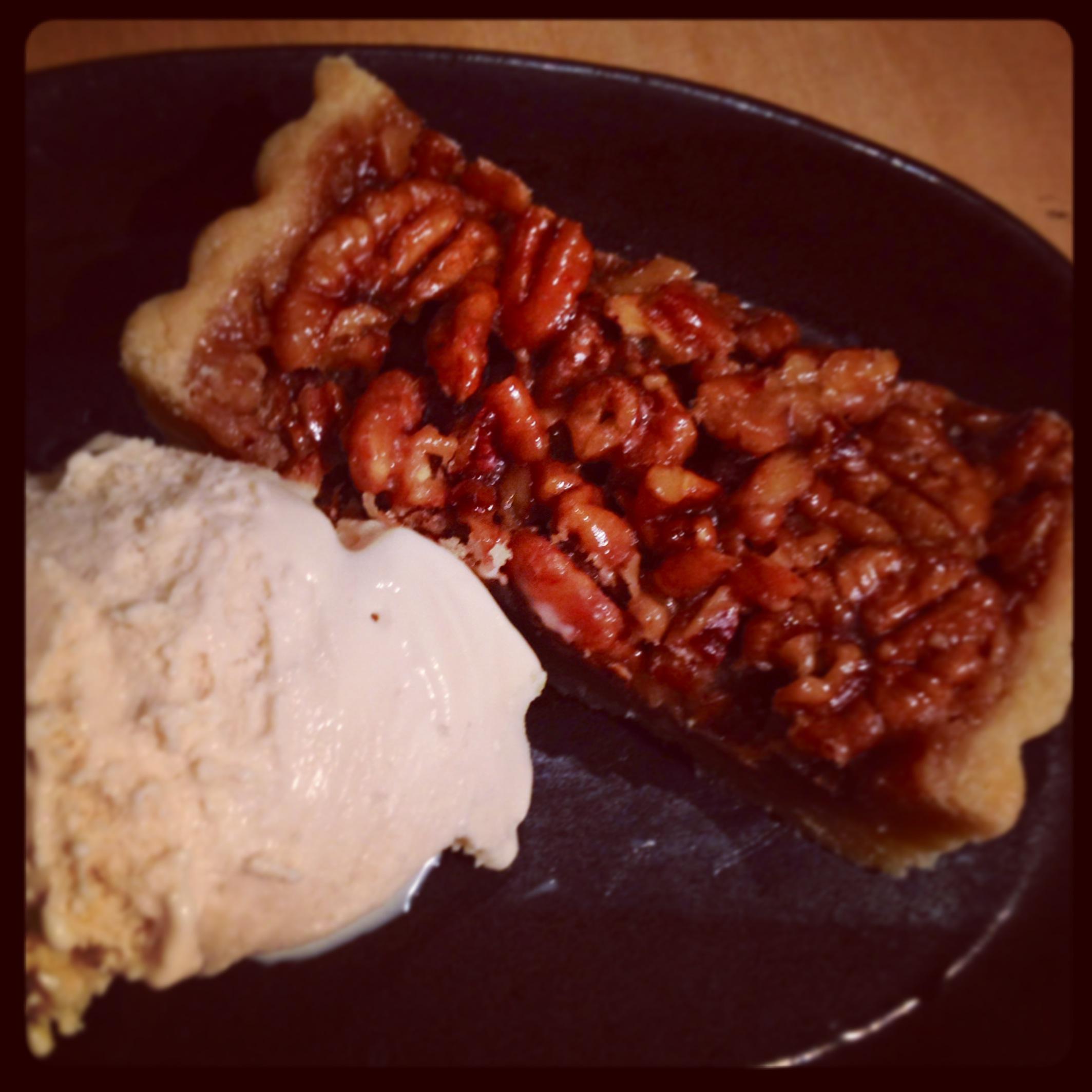honey maple pecan tart maple gelato
