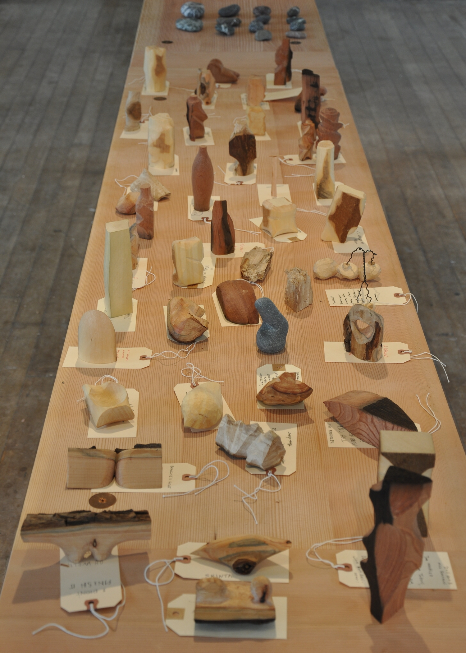 Whittle array -whittlings from 40 visiting artists invited tothe aWay station