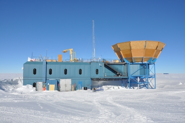 The Martin A. Pomeranz Observatory (MAPO) containing both BICEP and the Keck Array.