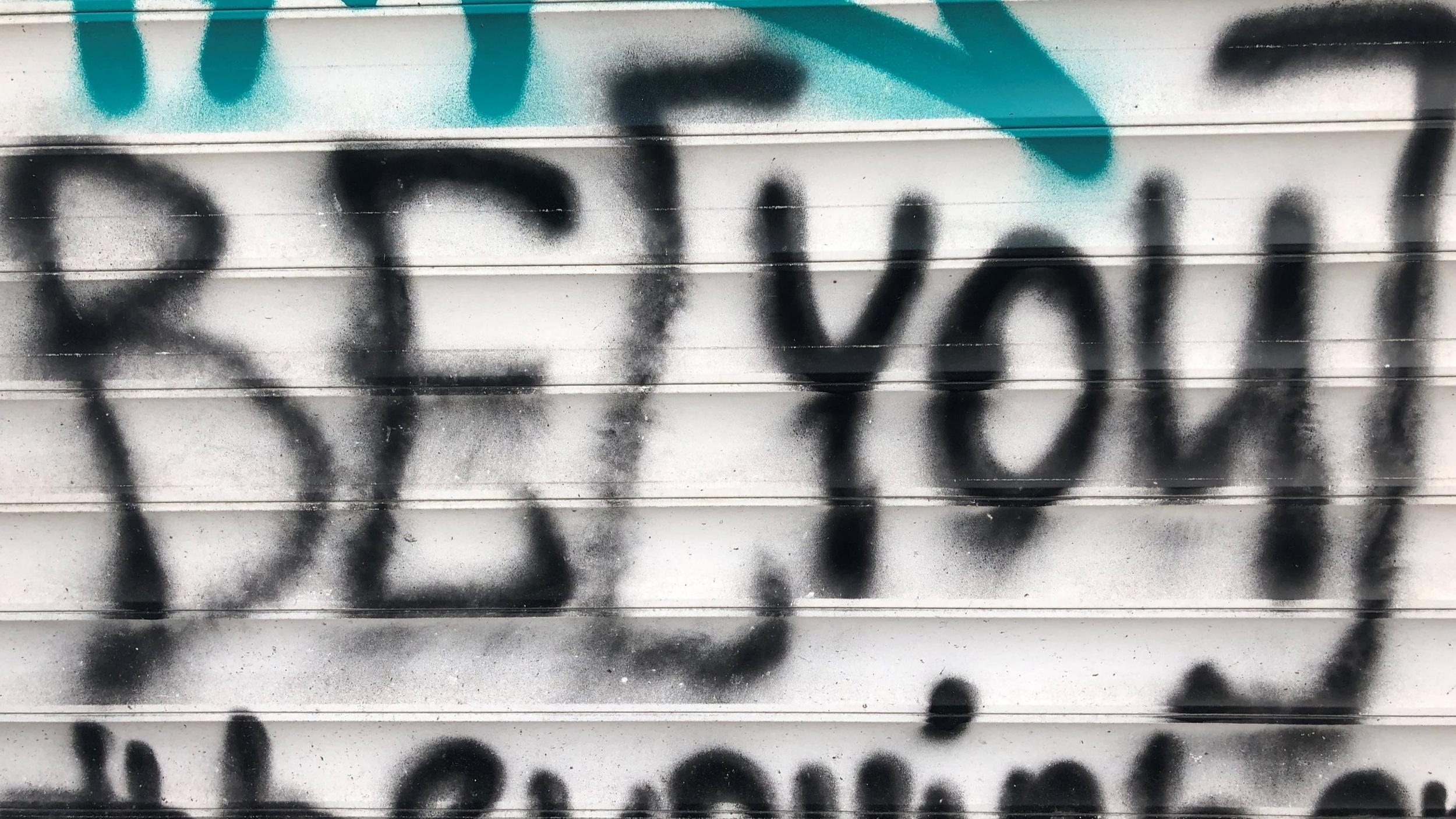 Graffiti Be You selbstbewusstes und glückliches Auftreten