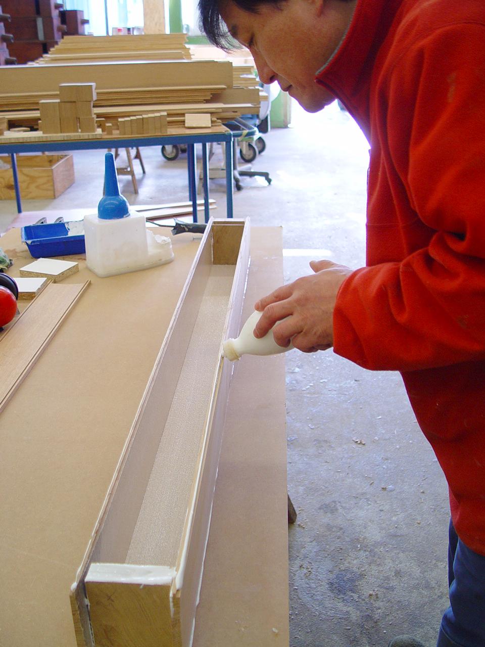 Verleimung von Holzpfeifen
