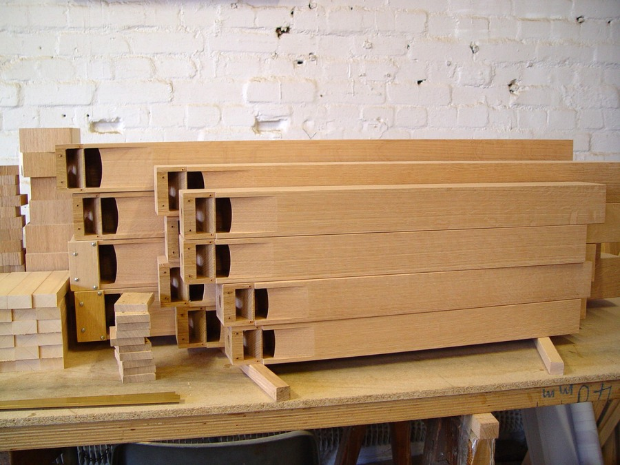 8' Oak-Pipes Waiting For Assembly