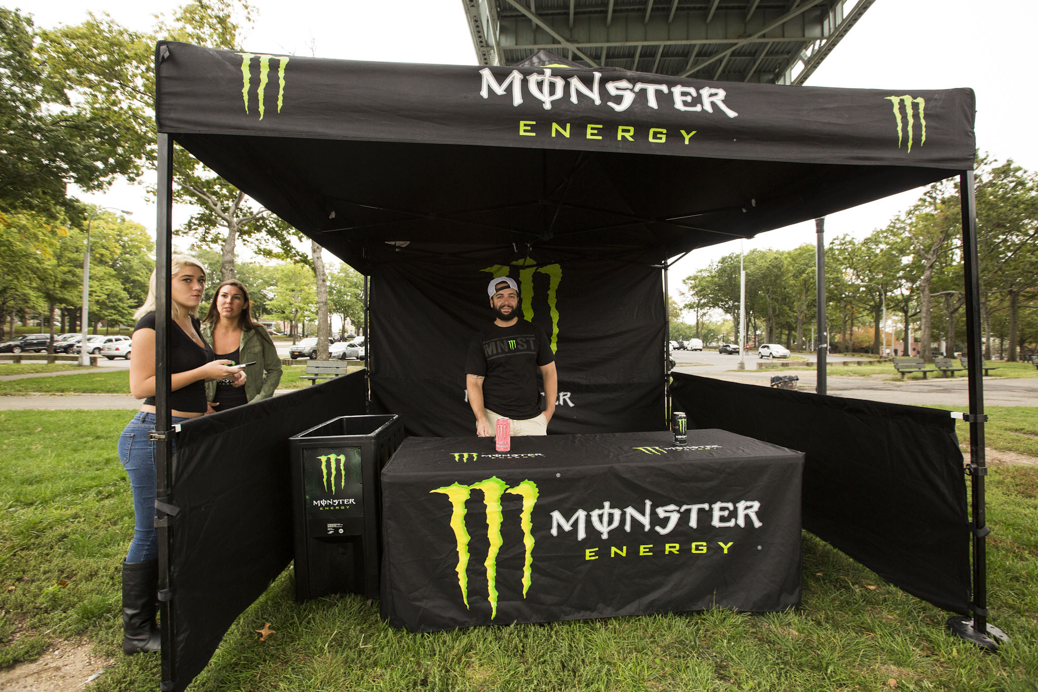 Monster Energy  helped keep people dry and energized!