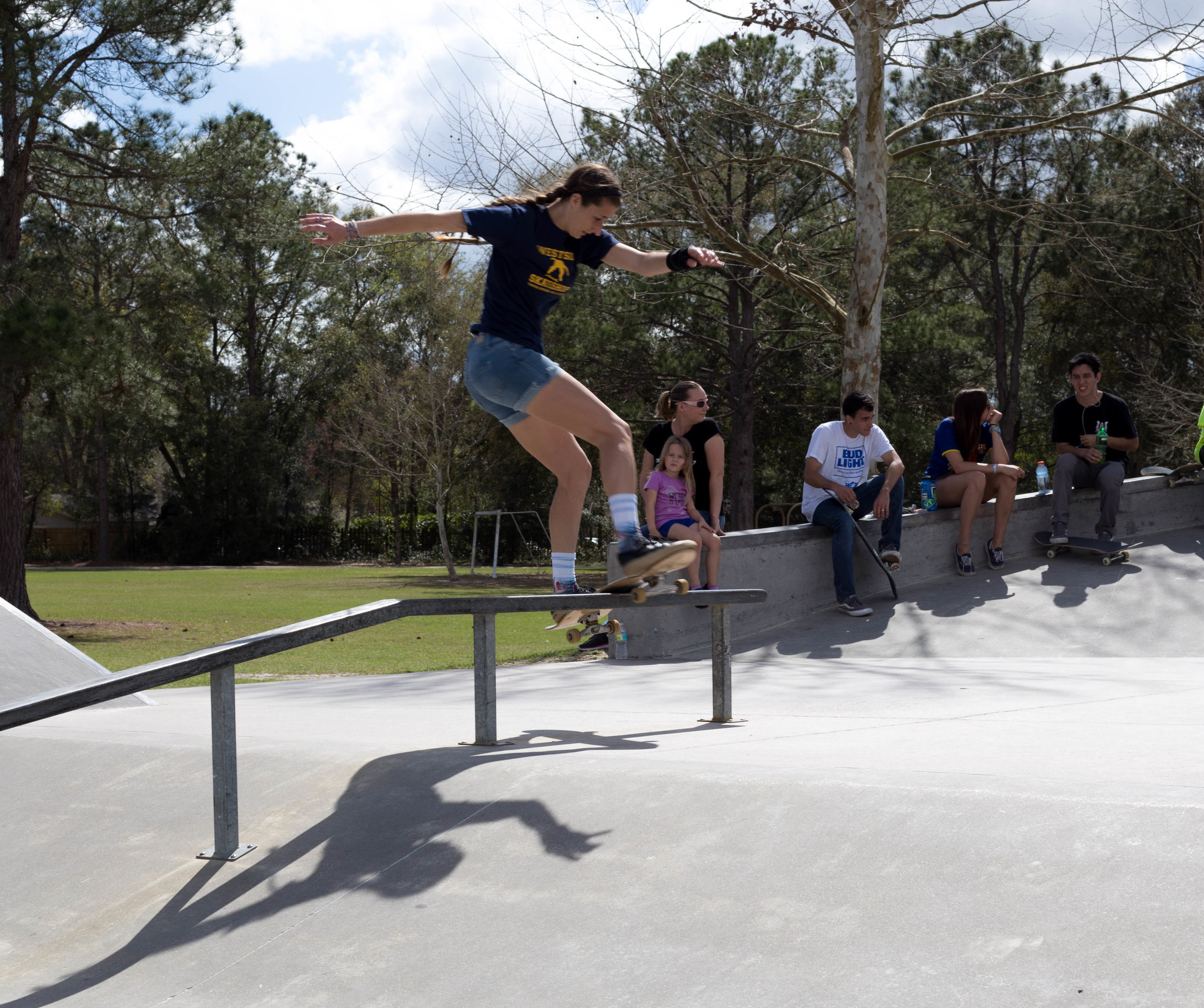 Marlee Miller has the proper lipslide on lock.