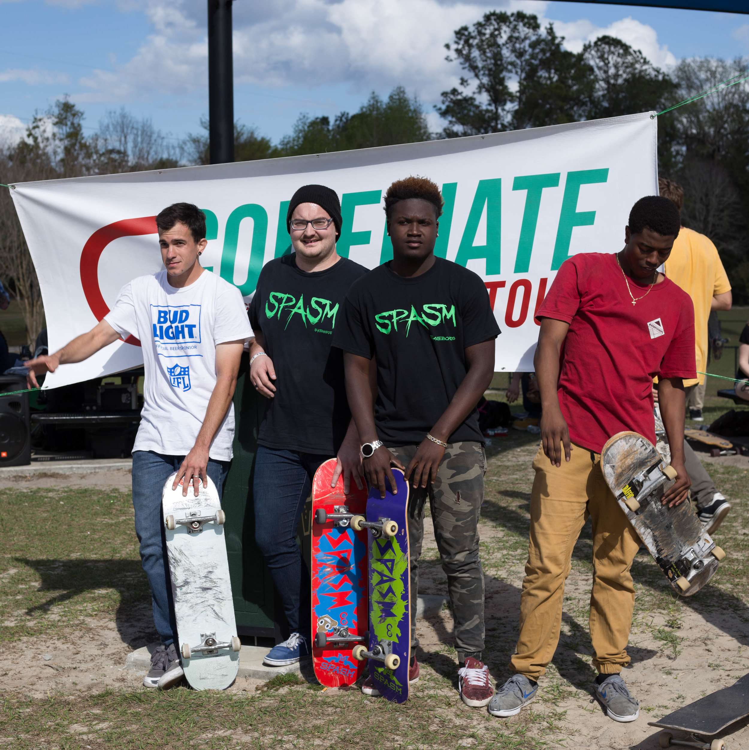 Heat Four. Non-student Division. Spasm Skateboards represent!
