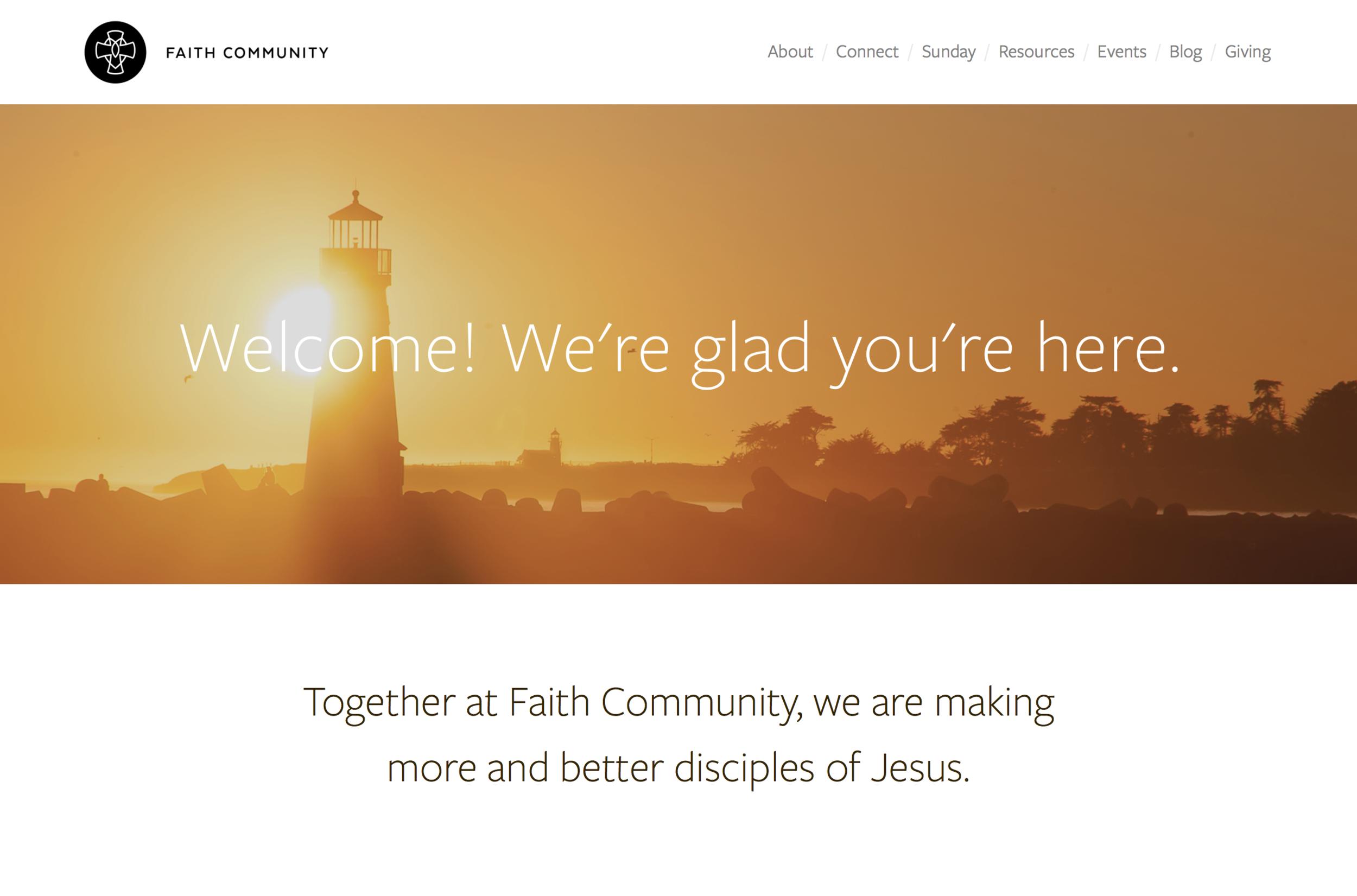 Faith Community Santa Cruz / Design - Zach McNair, Dev - Watertree