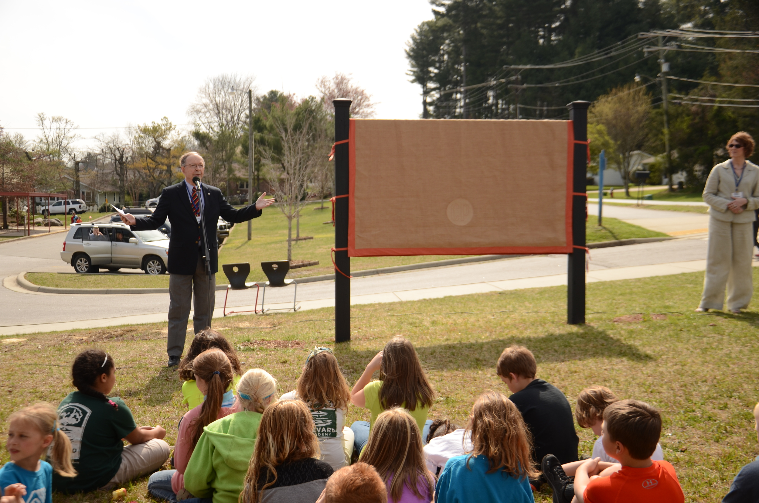 Unveiling of the Club's new name, The Cindy Platt Boys & Girls Club of Transylvania County in 2014.