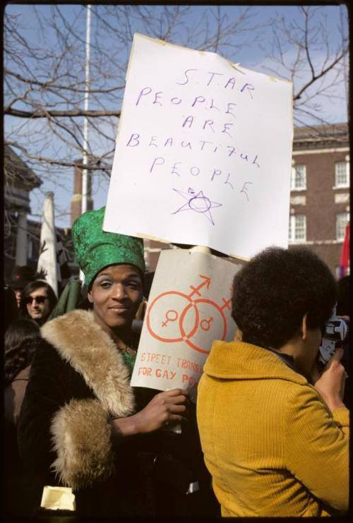 Marsha P. Johnson. Photo by Diane Davies.