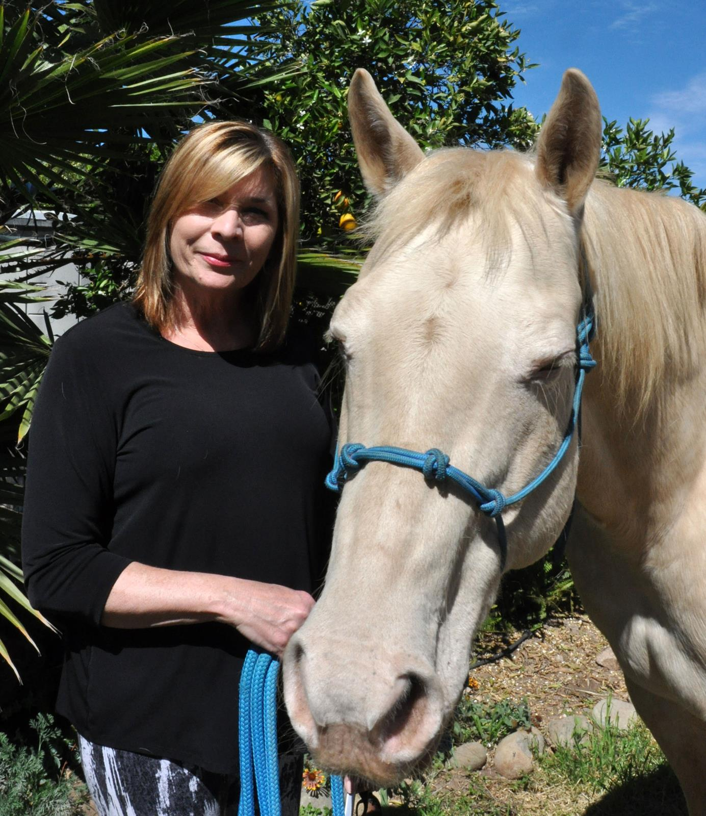 Julia with Pearl at California Coastal Horse REscue
