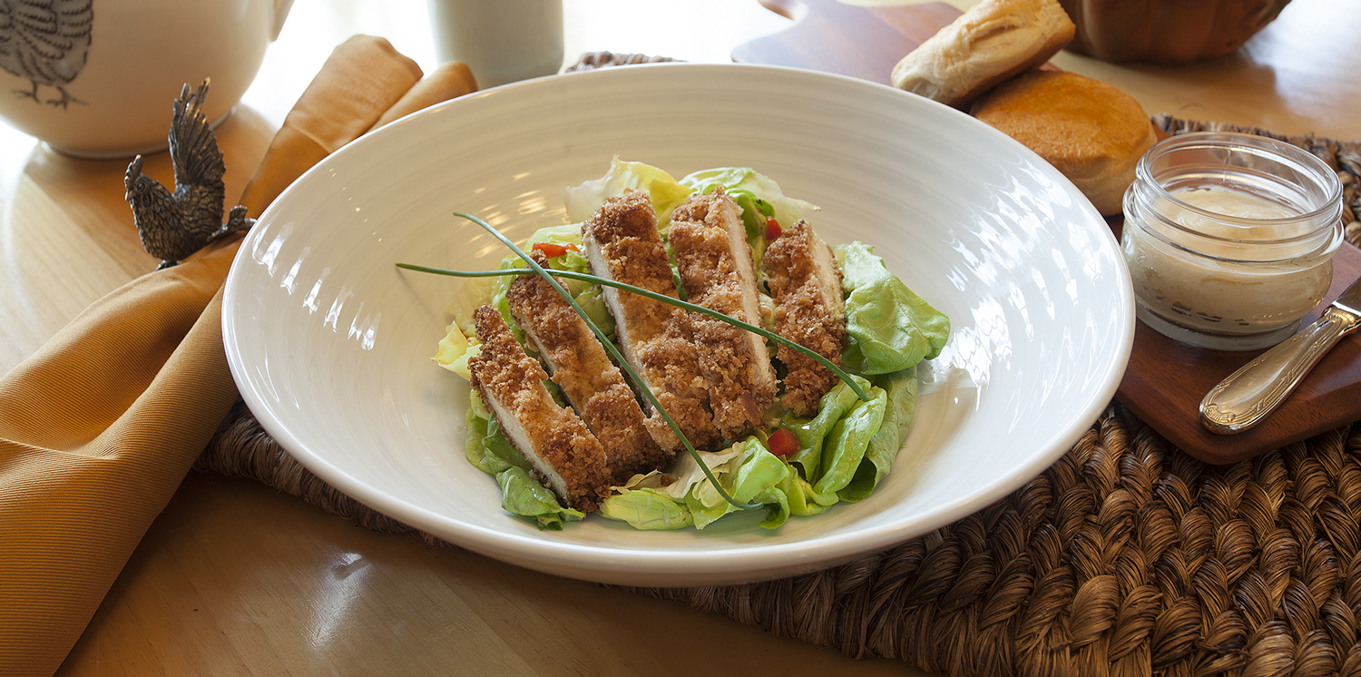 Southern Fried Salad makes a tasty and healthy lunch to go
