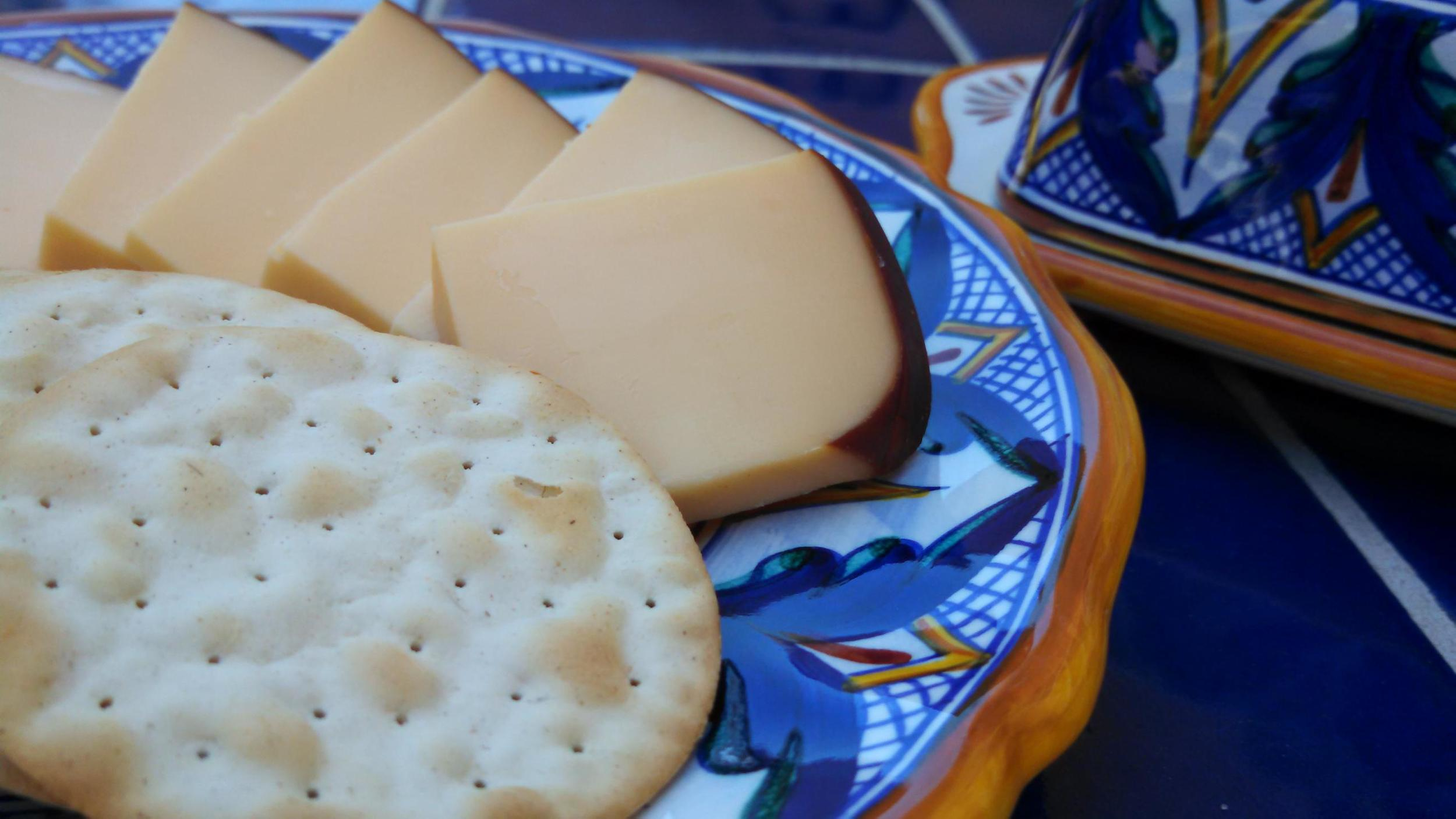 Smoked gouda is a great addition to cheese plates