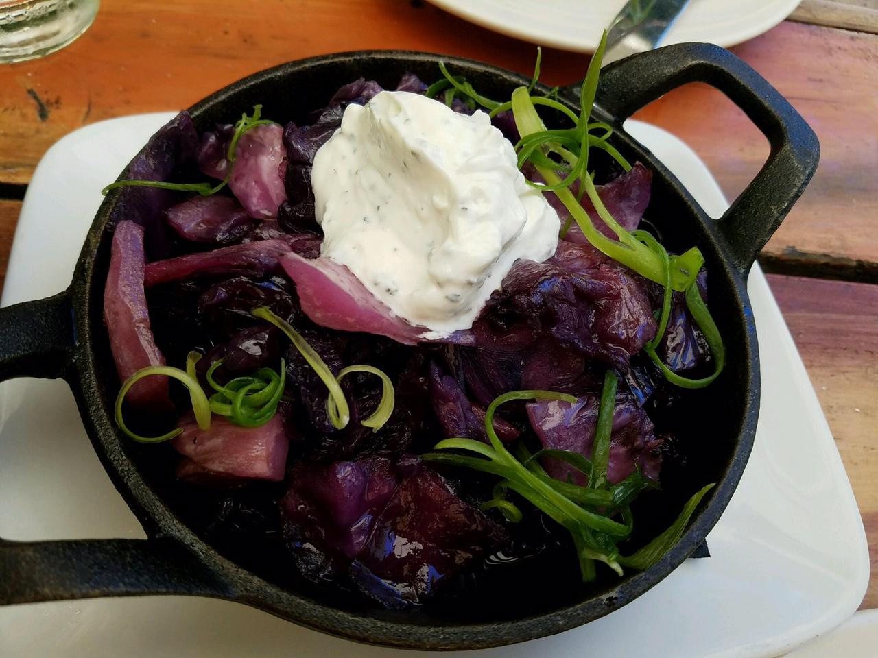 Smoked purple cabbage. Unique and delicious!