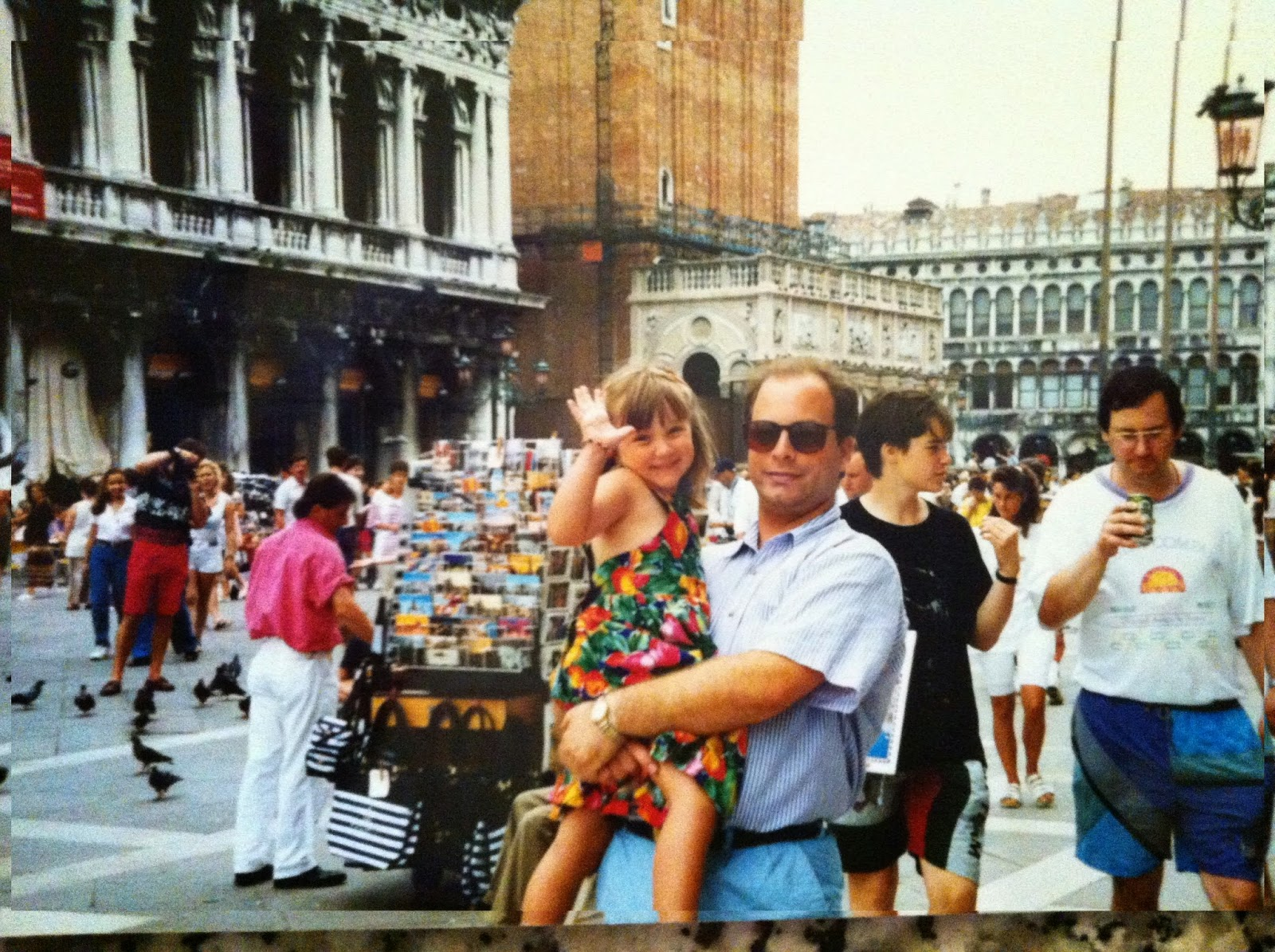 Dad & I in Piazza San Marco, 1995