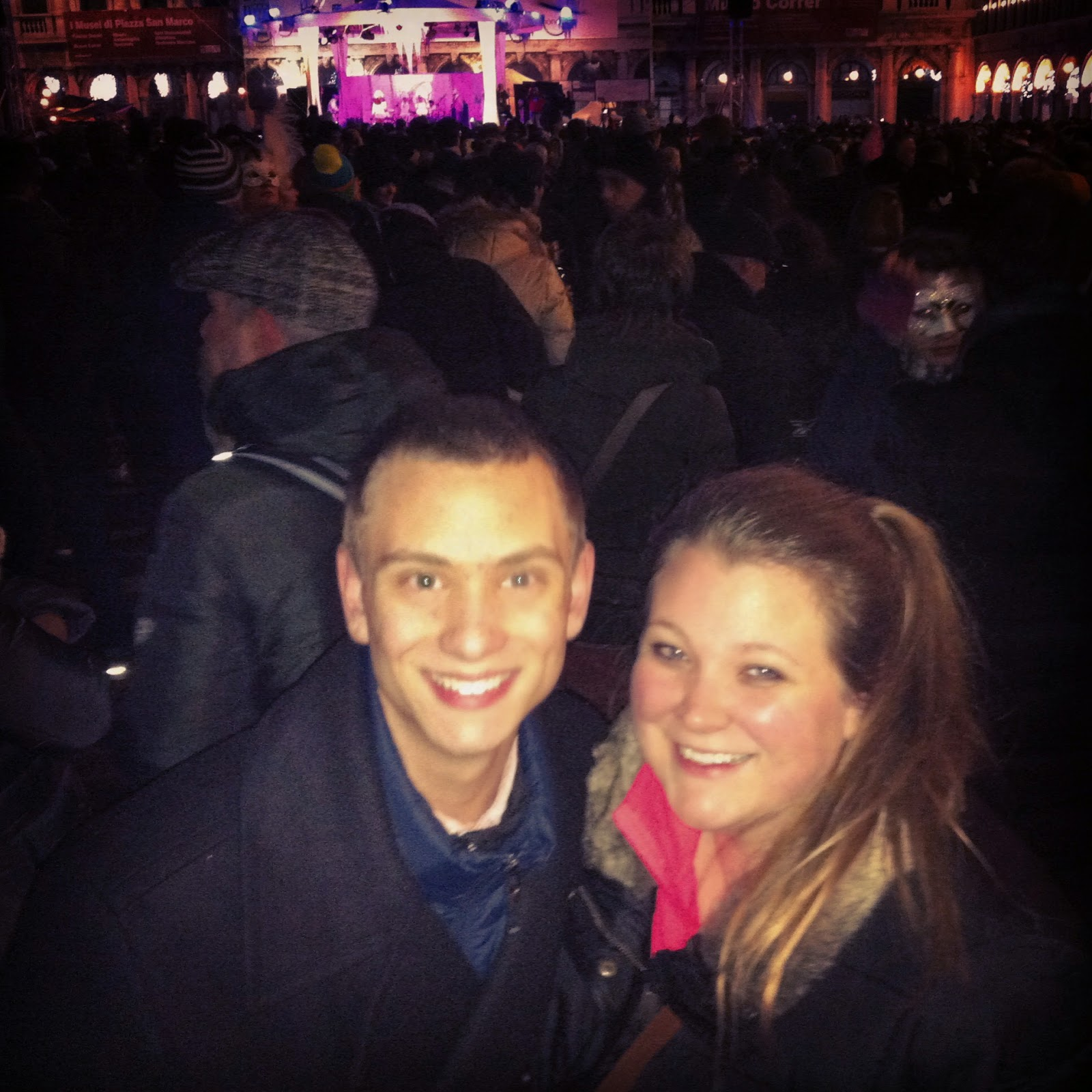 My brother & I in Piazza San Marco, New Years 2014