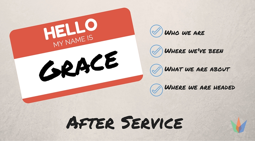 Sunday July 3 - find out more about Grace after service in the courtyard!
