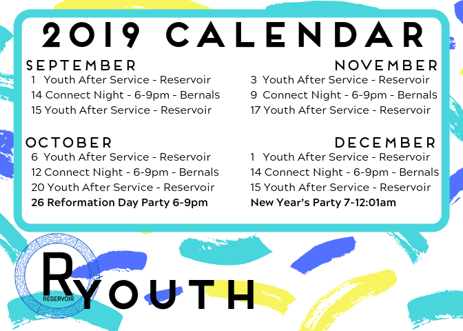 Our Fall youth events begin Sunday after service. Don't miss this!