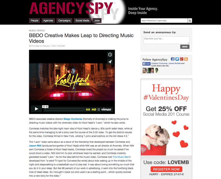 Agency Spy Article Feature