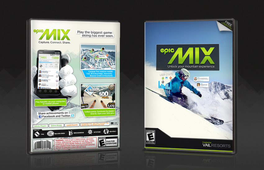 We created 10,000 of these gameboxes to send to bloggers + influencers to promote Epic Mix before the launch.