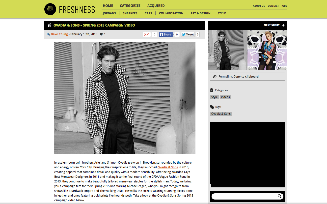 Featured on Freshness Mag